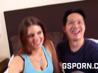 Hot Couple With hot asian Cock Fucking On Their Bed