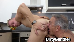 Dirty Gunther gets his Sack Smashed
