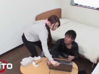 Erito - Horny Japanese babe had anal sex and creampied