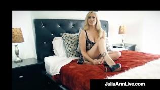 Holy Fan Fuck! Lucky Cock Bangs The Beautiful Busty Cougar Julia Ann!