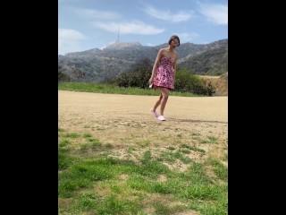 Brunette Teen Babe Natalie Porkman Public Sex at Hollywood Sign Hike