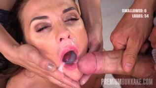 Premium Bukkake – Vinna Reed Eats 68 Big Mouthful Cum Loads