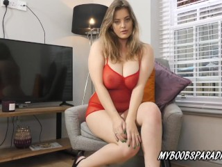 New Model On Myboobsparadise Lottie Rose Oiled Her Big Natural Boobs