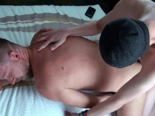 Young Skater's Bareback Breeding 3-way Fuck Cum as Lube