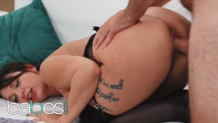 BABES - Tattoed babe Ivy Lebelle gets a mouthful of cum