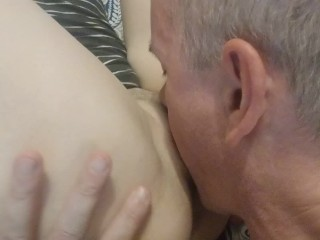 My Turn to Hold the Camera While He Licks and Fucks my Pussy