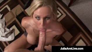 Hot Office Fantasies With Horny Milf Julia Ann & A Big Hard Throbbing Cock!
