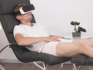 Rim4k. Girl Saw Hot Man Jerking Off To Vr Porn And Gave Him