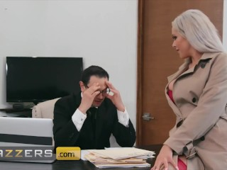 Brazzers - Busty blonde Nina Elle cheats on her husband with a big dick