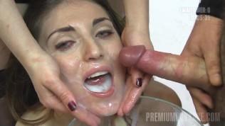 Premium Bukkake – Nona swallowing 99 huge mouthful cumshots