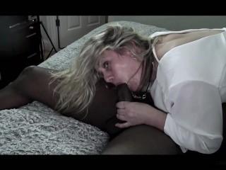 Swinger Heather enjoys a massive black cock in her wet pussy after bj