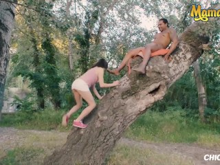 Chicas Loca - Petite Teen Risky Outdoor Sex With Huge BBC In The Park