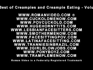 Creampies plus Pussy filling feasting cuckolds plus steaming hot wives with pussies filled to
