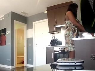 Chubby Cuban maid wants a taste of Jordi'd dick