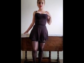 Sexy Black Lingerie Strip Tease