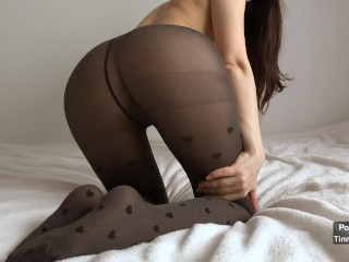 Petite Babe Fucked In Her Ripped Pantyhose Until She Squirts 4K