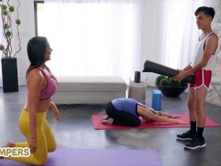 Lil Humpers - Big tit Yoga milf Reagan Foxx loves big dick
