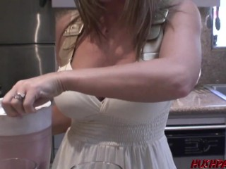 Devon Lee is quite the hostess—homemade juice AND a fuck!