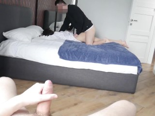 Husband Films Young Wife With His Friend And Cum So Hard