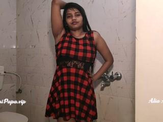 Indian/alia bathroom shower desi girl