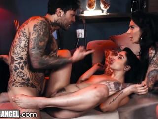Hot Joanna Angel And Her Tikki Girl Fuck Their Hostage Hard