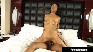 Sweet Chocolate Chick Mocha Menage Wrecked By Big Black Cock Rome Major!