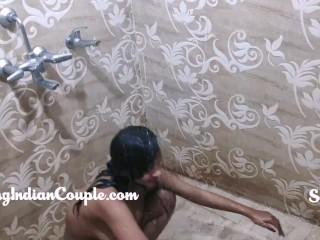 Steaming hot Hot Huge Step sister Feeling Shower Filmed By Her Step-brother