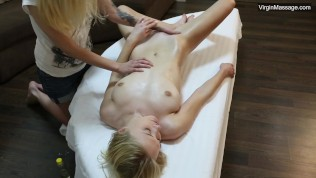 Hot Russian first timer Anixton gets her pussy rubbed