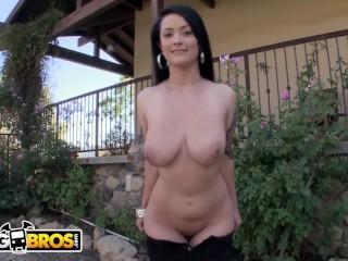 BANGBROS - Busty Brunette Babe Katrina Jade Riding Cock