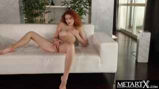 Solo masturbation session for beautiful redhead who craves orgasm
