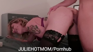 My Stepmom Screams of Anal Pleasure when I fuck her hard next to Dad. BEST JULIEHOTMOM