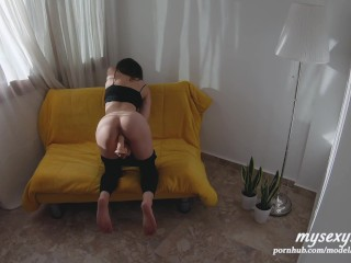 Stepsister Caught With A Dildo - She Lets Me Cum In Her Tight Ass Hole To Keep Secret! (POV 4K )
