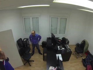 Ugly IT guy fucks his client after doing repairs