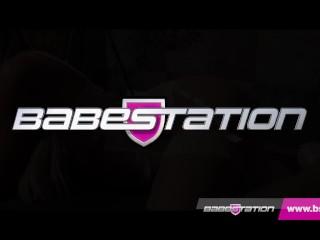Epic Babestation Sexy Brunette Saskia Jade Strips Off