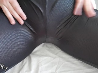 Step Sister Begs For Creampie in Her Ripped Leather Leggings