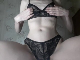 Became horny while watching porno and decided to play with myself.