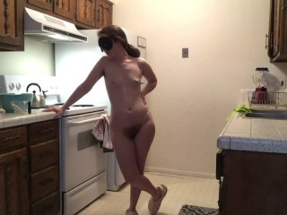 Naked Goddess in the Kitchen Makes Cookies! Naked in the Kitchen with Ginger PearTart Episode 1