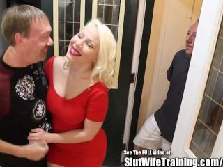 Big Tit Blonde Little Slut Wife Deep Creampie Tasted