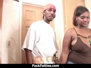 Fuck Fatties Horny Black BBW Amazing Sex With The Plumber