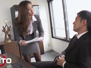 Erito - Sexy Asian Babe Is So Horny For Her Boss's Hard Dick