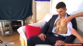 Big dick of bankster in gay porn : alan