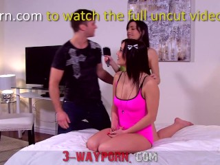 3-Way Porn - Double Blowjobs Threesomes