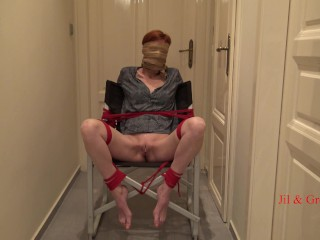 Chair Bondage for Jil with multiple orgasms - Short Version