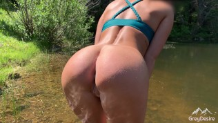 Outdoor Public Flashing, Squirting and Anal Fucking on Camping Trip!!! (Trailer)