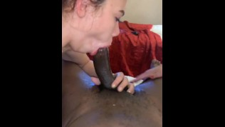 Final and full part of unexpected 3some , with double cumshot