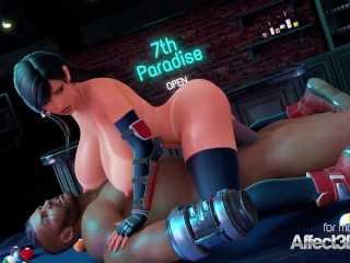 Big tits sexy receiving ass fuck sex with a ebony girl dude in a bar