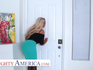Bridgette B shows off house and then gets her ass and pussy filled