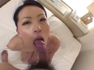 Uncensored Japanese Milf Sloppy Blowjob And Sex While Looking Into Camera