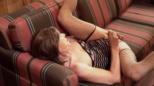 Moaning Sissy Crossdressing Trans Has Unexpected Orgasm Cums Huge Cumload After Sexy Tgirl Ass Play