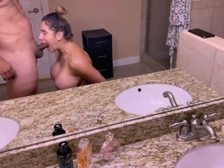 Big Tits Amateur Wife knows how to Suck a Big Dick before an Intense Anal POV in bed